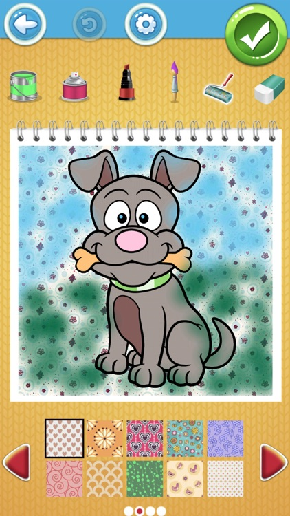 Cute Dog Coloring Book Pages