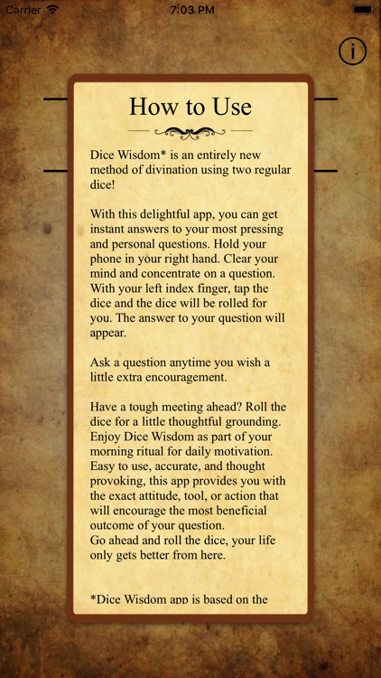 Dice Wisdom screenshot-1
