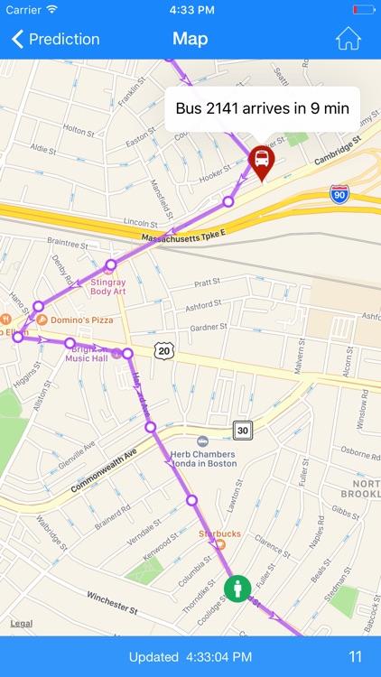 Where's my MBTA Bus? screenshot-4