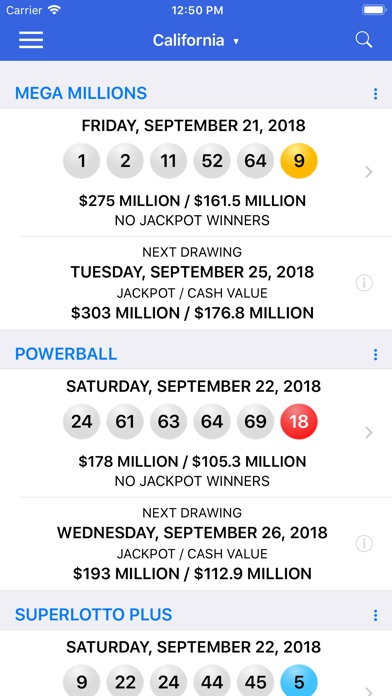 Lotto Results - Lottery in US for Windows