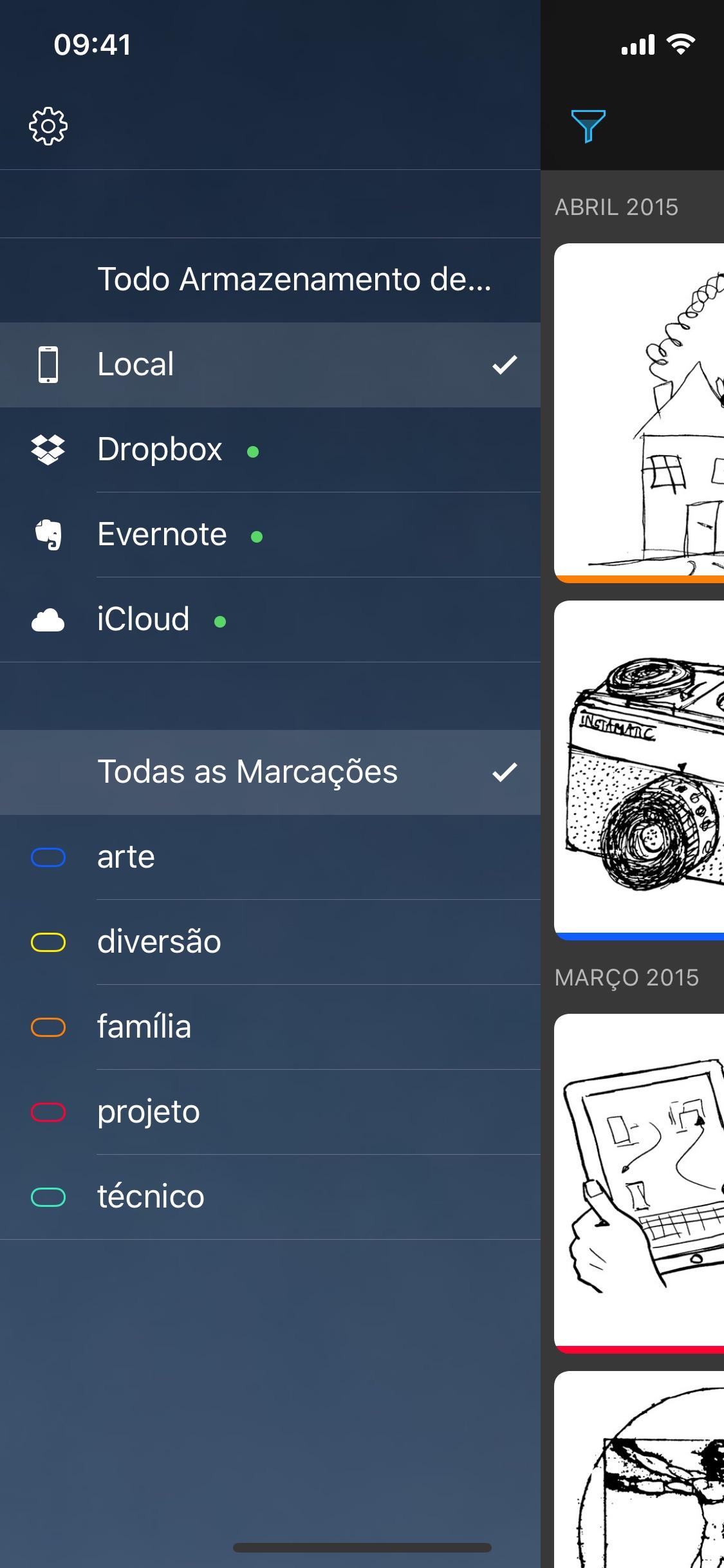Screenshot do app Carbo¹