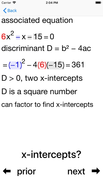 Quadratic Inequalities - AppRecs on