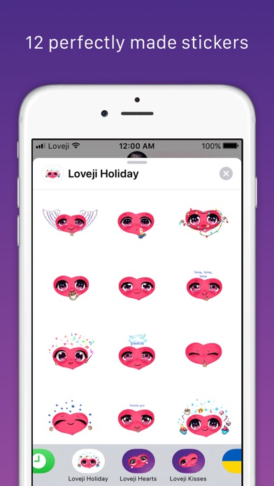 Screenshot for Loveji Holiday Spirit Stickers in United States App Store