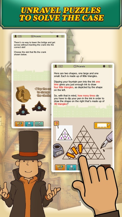 Screenshot for Layton: Curious Village in HD in Denmark App Store