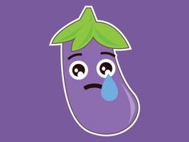 Eggplant Aubergine Stickers
