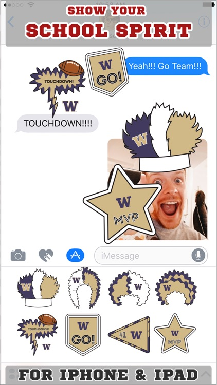 Washington Huskies Stickers for iMessage