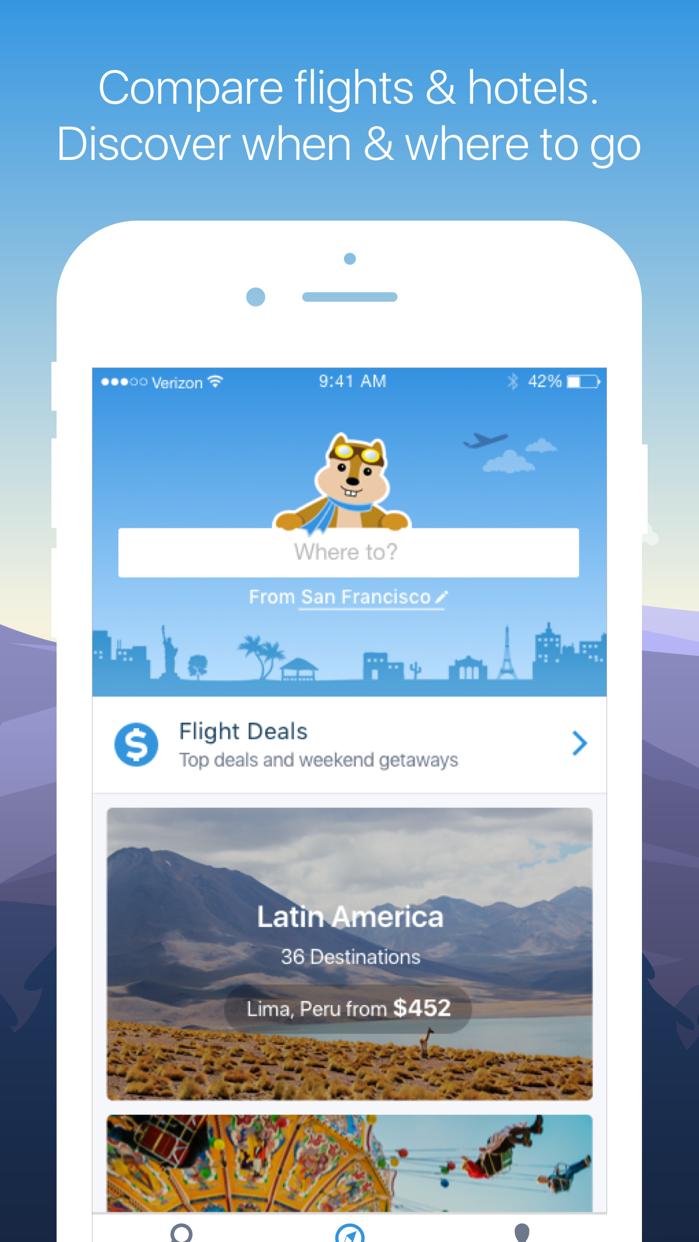 Hipmunk Travel Search Screenshot