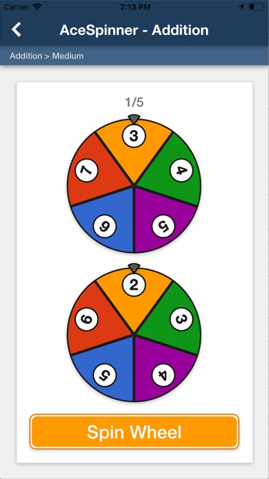Ace Spinner Math Games screenshot 1