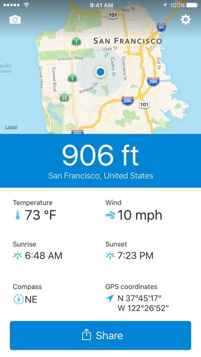 Runtastic Altimeter GPS PRO Screenshots