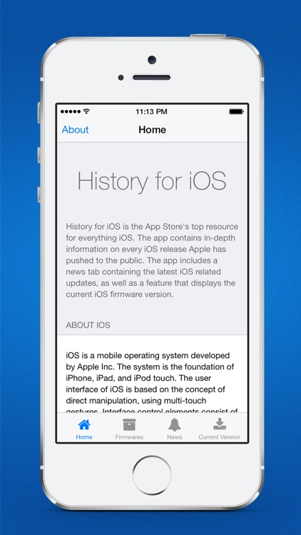 History for iOS