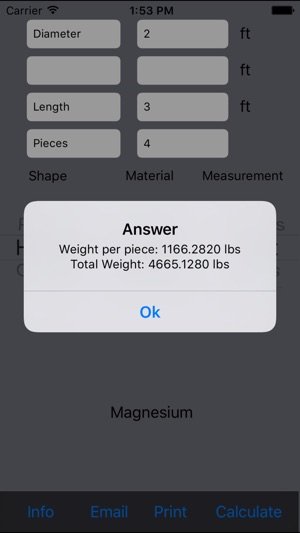 Metal Weight Calculator Lite on the App Store