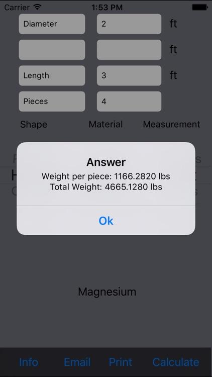 Metal Weight Calculator Lite