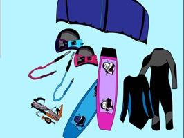 Kiteboarding kitesurfing stickers about kite gear for you and your friends