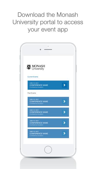 Monash University Events Portal screenshot 1