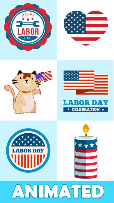 Animated Labor Day Stickers Screenshot 2
