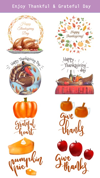 Thanksgiving Watercolor Set screenshot 2