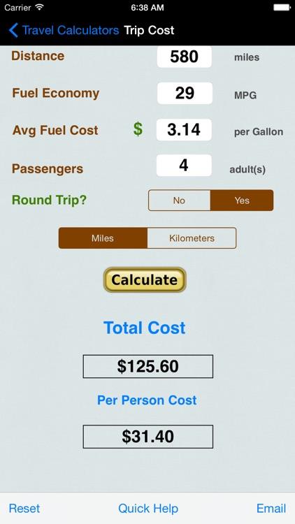Automobile Trip Calculators