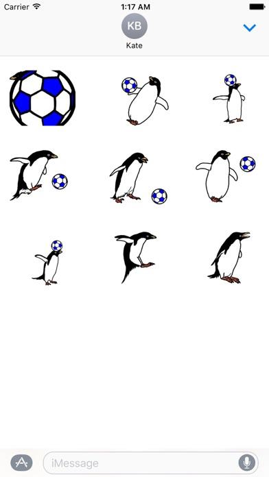 Animated Penguin Play Soccer screenshot 2