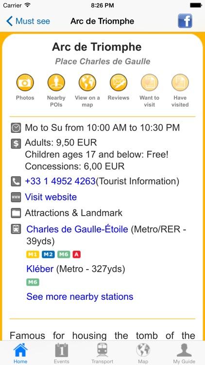 Paris Travel Guide Offline screenshot-4