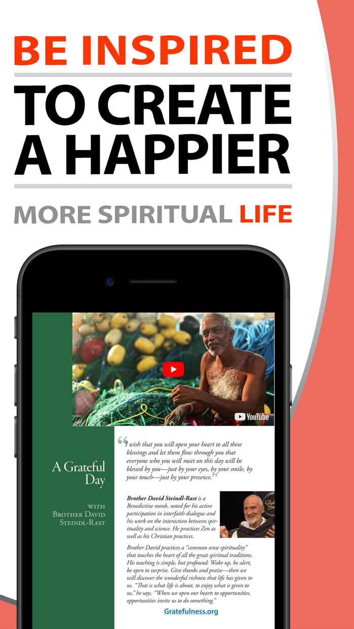 Spiritual Life Magazine Screenshot