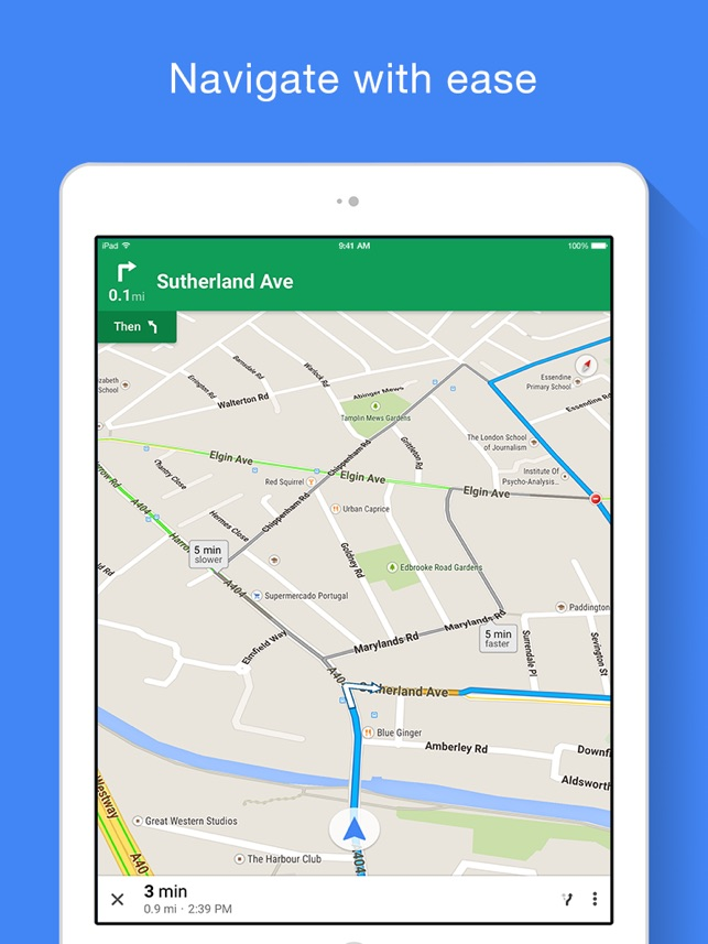 Google Maps - Transit & Food Screenshot