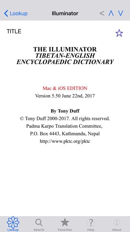 Illuminator Tib Eng Dictionary