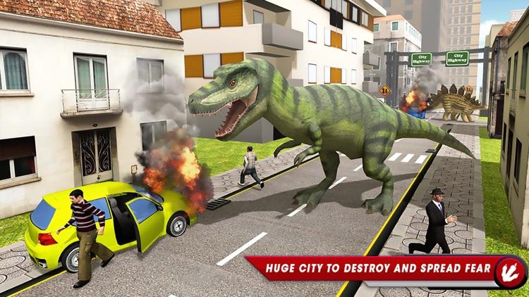 Dinosaur Simulator City Hunter screenshot-3