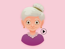Old Lady Stickers Animated