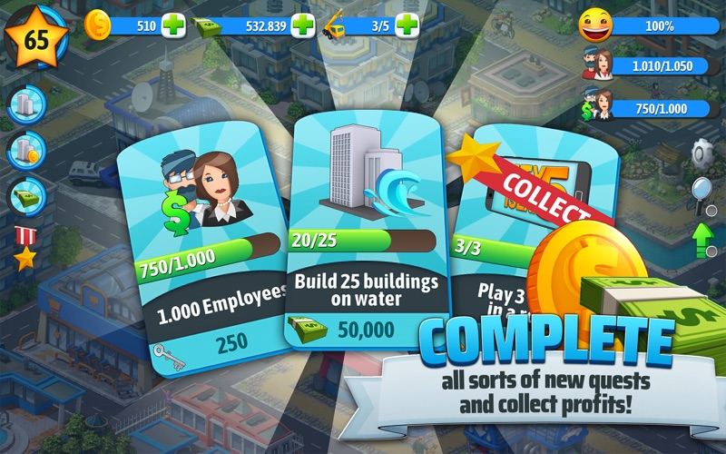 City Island 5 Tycoon Sim Game free Gold hack