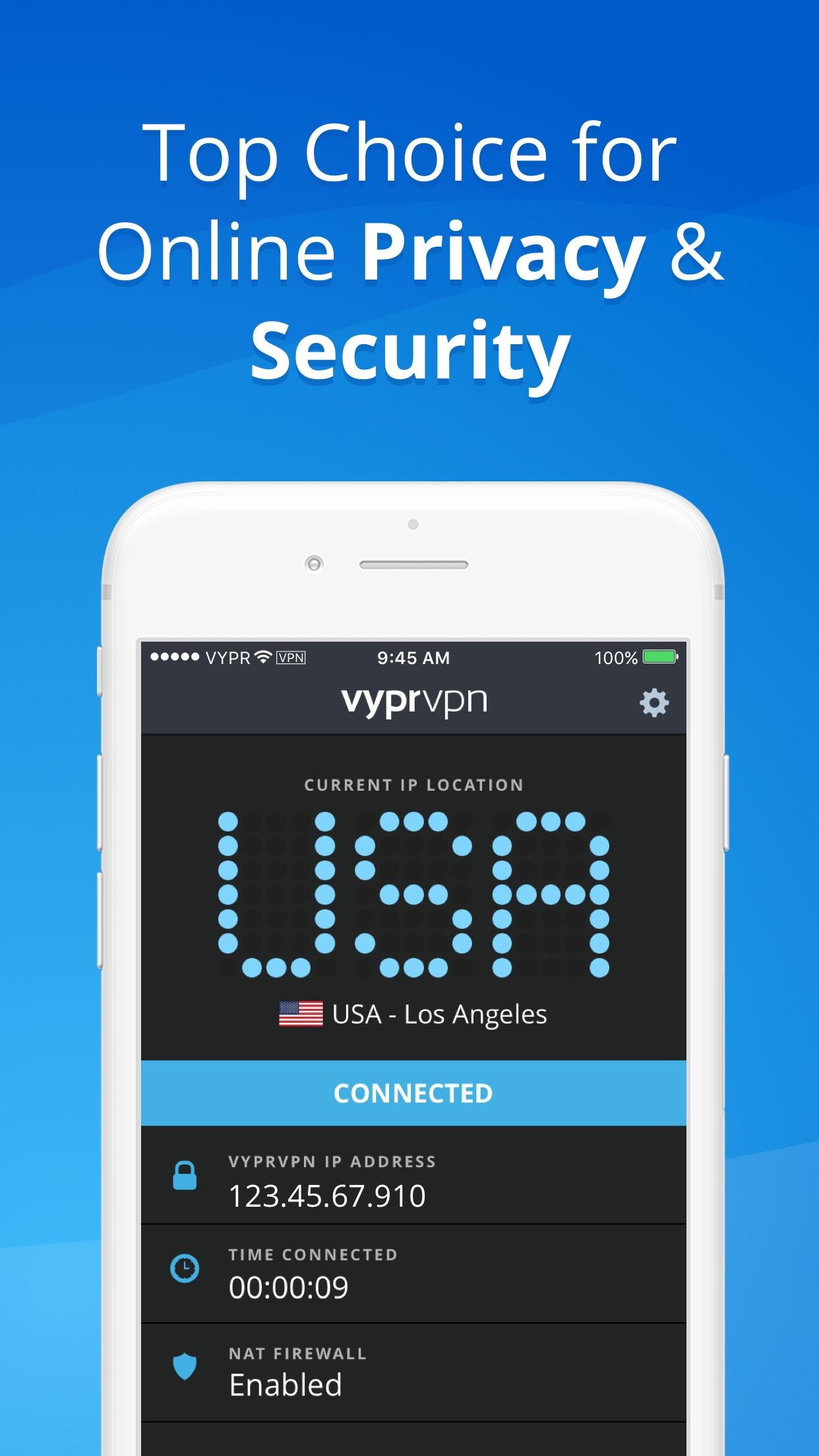 VPN - Fast & Secure VyprVPN Screenshot