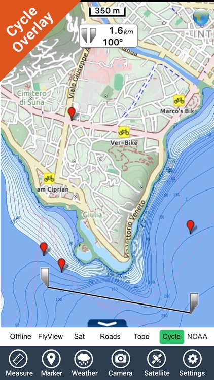 Italy Lakes charts - GPS fishing maps Navigator screenshot-2