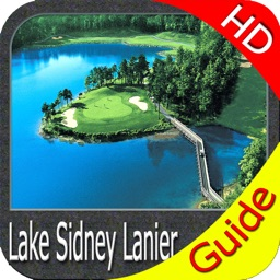 Lake Lanier GA HD Fishing Maps
