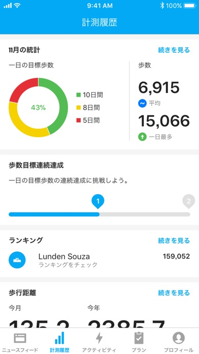 Runtastic Steps 歩数計 screenshot1