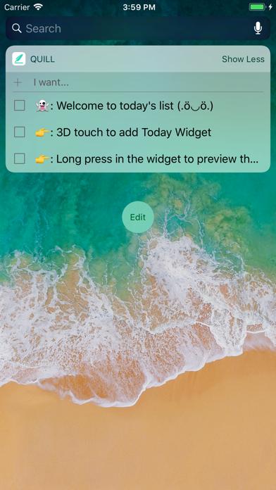 Quill - Todo list screenshot one