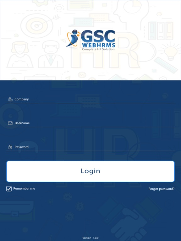 iPad Image of GSC WebHrms