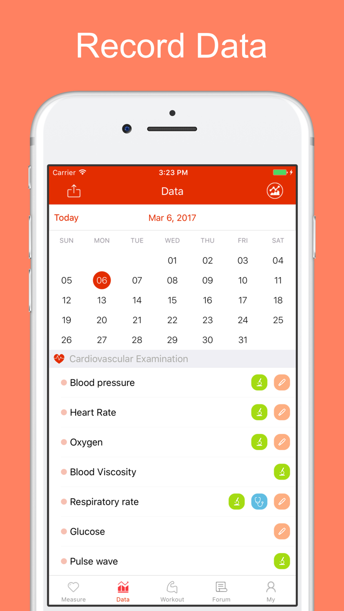 iCare Health Monitor Screenshot