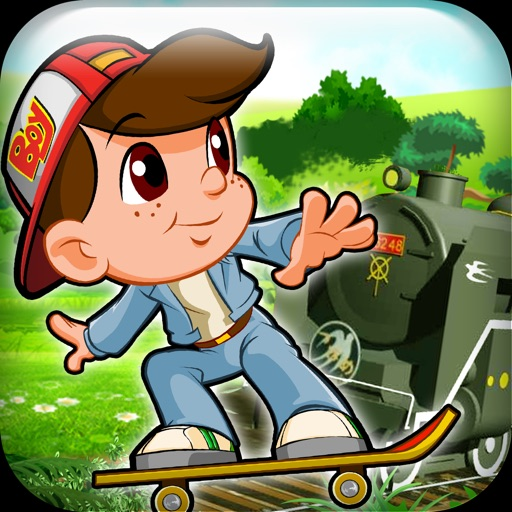 Subway Boy Racer vs Train