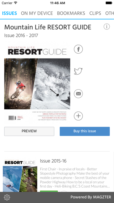 Mountain Life RESORT GUIDE screenshot 1