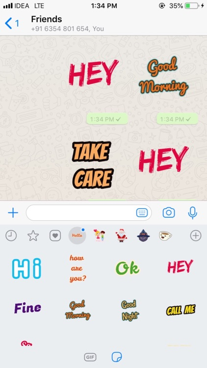 Text Stickers For Whatsup