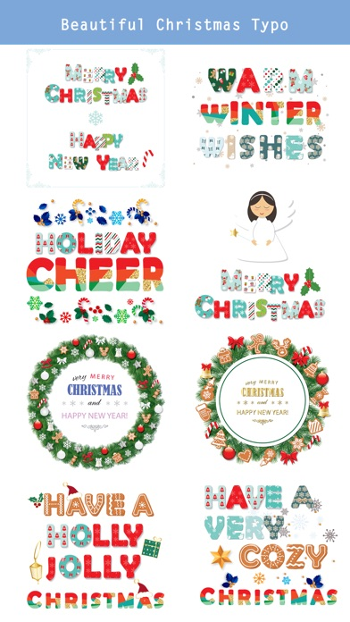 Christmas Lettering Stickers . screenshot 2