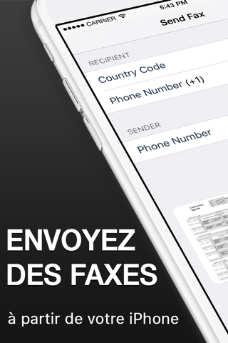 Fax from iPhone. Send Fax App screenshot 1