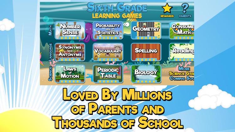 Sixth Grade Learning Games screenshot-3
