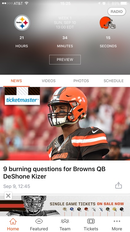 Cleveland Browns screenshot-1