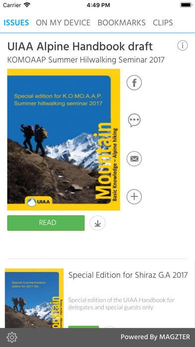UIAA Alpine Handbook draft screenshot 1