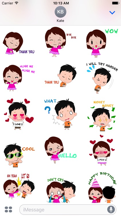 Little boy and girl stickers