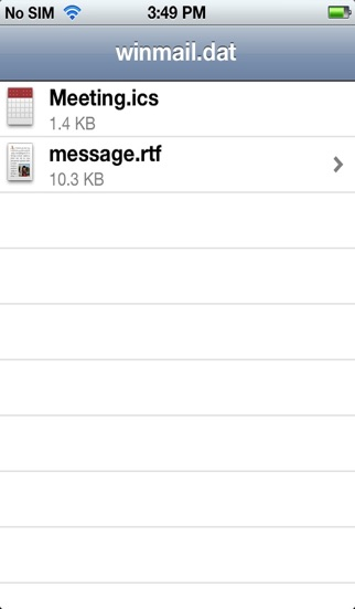 Screenshot for Winmail File Viewer in Spain App Store