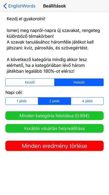 Angol Szótanuló screenshot-4