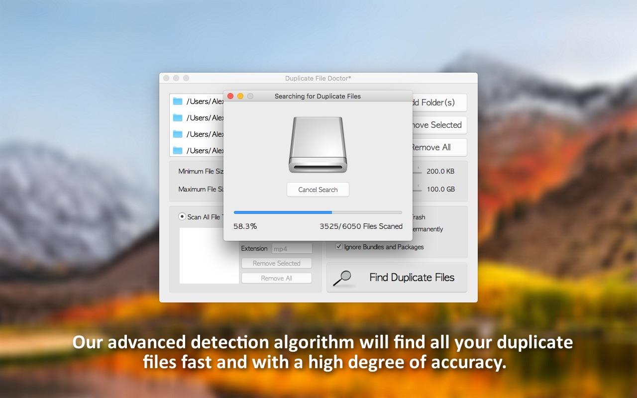 Screenshot do app Duplicate File Doctor