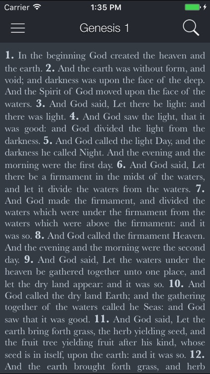 Holy Bible (King James) screenshot-1