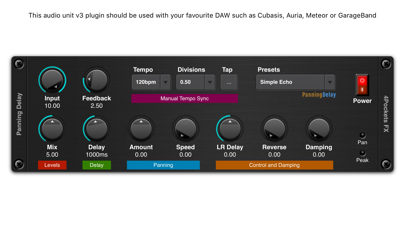 Panning Delay AUv3 Plugin